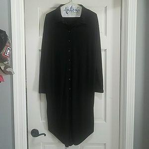 NWOT black collared postmark dress